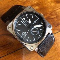 Bell & Ross BR 03-90 Grande Date et Reserve de Marche Сталь 42mm Черный