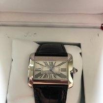 Cartier Tank Divan pre-owned 38mm Silver Leather
