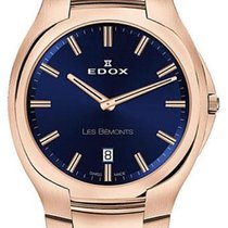 Edox Les Bémonts Acero 42mm Azul