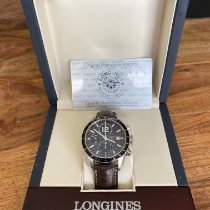 Longines Grande Vitesse Steel 42mm Brown No numerals