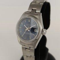 Rolex Oyster Perpetual Lady Date Acier 26mm Bleu Sans chiffres France, Paris