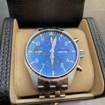 IWC Fliegeruhr Chronograph Stahl 43mm Blau Arabisch Deutschland, Berlin