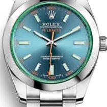 Rolex (ロレックス) ミルガウス ステンレス 40mm ブルー 文字盤無し