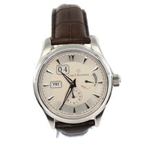 Carl F. Bucherer Steel Automatic Silver 43mm pre-owned Manero