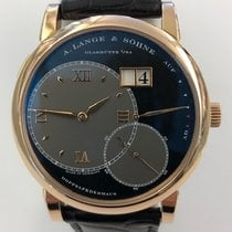 A. Lange & Söhne Grand Lange 1 pre-owned 42mm Black Date Leather