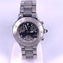 Cartier 21 Chronoscaph Steel 38mm Black No numerals United States of America, Florida, Fort Lauderdale