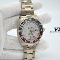 Rolex GMT-Master II White gold 40mm Silver No numerals United States of America, New York, New York