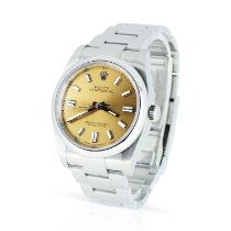 Rolex Oyster Perpetual 36 Steel 36mm Bronze Arabic numerals