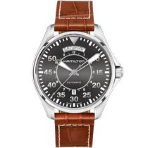 Hamilton Khaki Pilot Day Date Steel 42mm Grey Arabic numerals