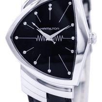 Hamilton Ventura Steel Black No numerals