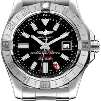 Breitling Avenger II GMT Steel 43mm Black No numerals United States of America, New Jersey, River Edge