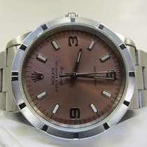 Rolex Air King Precision Steel 34mm Pink No numerals Malaysia