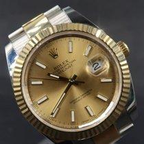 Rolex Datejust Ouro/Aço 41mm Ouro Sem números