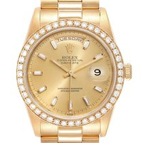 Rolex Day-Date 36 Geelgoud 36mm Champagne