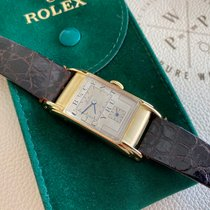 Rolex Prince Gelbgold 22mm Weiß Arabisch