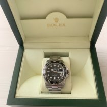 Rolex GMT-Master II Steel 40mm Black No numerals UAE, Dubai - Nad AlHammar