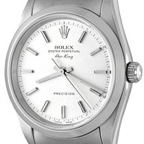 Rolex Air King Precision Steel 33mm Silver No numerals