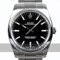 Rolex Oyster Perpetual 34 Ocel 34mm Černá Bez čísel