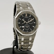 Audemars Piguet Royal Oak Dual Time occasion 39mm Noir Date panorama Acier