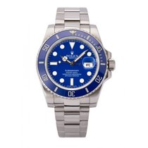 Rolex Oro blanco Automático Azul usados Submariner Date