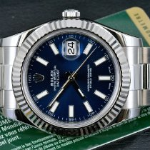 Rolex Datejust II Steel 41mm Blue No numerals United States of America, Michigan, Detroit