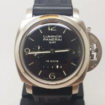 Panerai Luminor 1950 10 Days GMT Acier 44mm Noir Arabes France, LYON - Tassin La Demi Lune