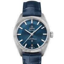 Omega Globemaster Steel 39mm Blue No numerals