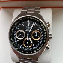 Omega Speedmaster Mark II gebraucht Schwarz Chronograph Datum Tachymeter Stahl