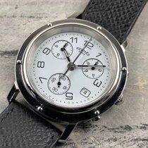 Hermès Clipper Stahl 38mm Schwarz