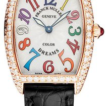 Franck Muller Rose gold Quartz Silver new Color Dreams