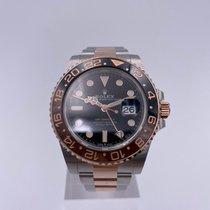 Rolex GMT-Master II Gold/Steel 40mm Black No numerals Australia