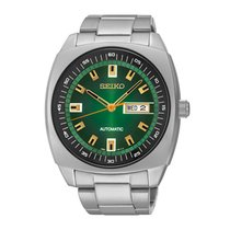 Seiko 5 Steel 43.5mm Green No numerals United States of America, Massachusetts, Florence