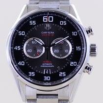 TAG Heuer Carrera Calibre 36 Steel 43mm Black Arabic numerals
