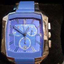 Jacques Lemans High Tech Ceramic Dublin Steel 41mm Blue No numerals