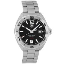 TAG Heuer Formula 1 Calibre 5 pre-owned 41mm Black Date Year Steel