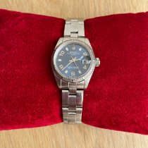 Rolex Oyster Perpetual Lady Date Acier 26mm Bleu France, Ahuy