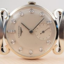 Longines White gold 30mm Manual winding pre-owned