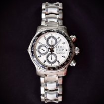 Ebel 1911 Discovery Steel 43mm White No numerals