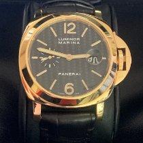 Panerai Or jaune Remontage automatique Noir Arabes 44mm occasion Luminor Marina Automatic