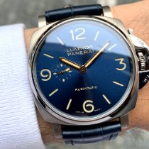 Panerai Titanium Automatic Blue Arabic numerals 45mm new Luminor Due