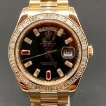 Rolex Day-Date II Oro rosa 41mm Marrón Romanos