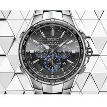 Seiko Coutura Steel 44.5mm Grey No numerals United States of America, New York, Bellmore