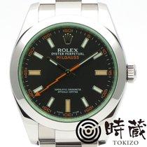 Rolex (ロレックス) ミルガウス 中古 40mm ブラック ステンレス