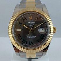 Rolex Datejust II Goud/Staal 41mm Grijs Romeins Nederland, Kerkrade