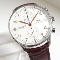 IWC Portuguese Chronograph Acero 41mm Blanco