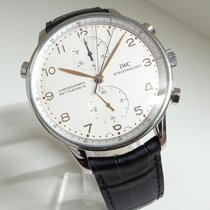 IWC 3712 Steel 1998 Portuguese Chronograph 41mm pre-owned