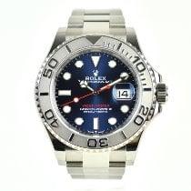 Rolex Yacht-Master 40 Platina 40mm Modrá Bez čísel