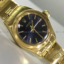 Rolex Oyster Perpetual 26 Yellow gold Blue