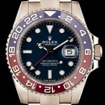 Rolex GMT-Master II Or blanc 40mm Bleu