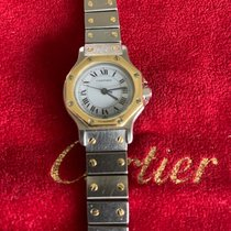 Cartier Santos (submodel) Gold/Stahl 22mm Perlmutt Römisch Deutschland, Herxheim / Pfalz